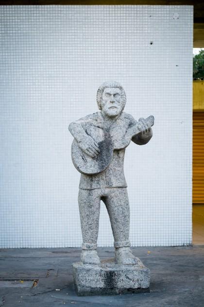 Esculturas de Violeiro, Sanfoneiro e Bumba meu Boi